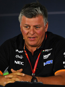 Otmar Szafnauer, Force India Formula One Team Chief Operating Officer in the Press Conference