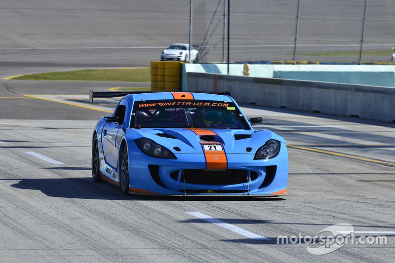 #21 MP2A Ginetta G55 driven by Elias Azevedo & Chelo La Manna of Ginetta USA