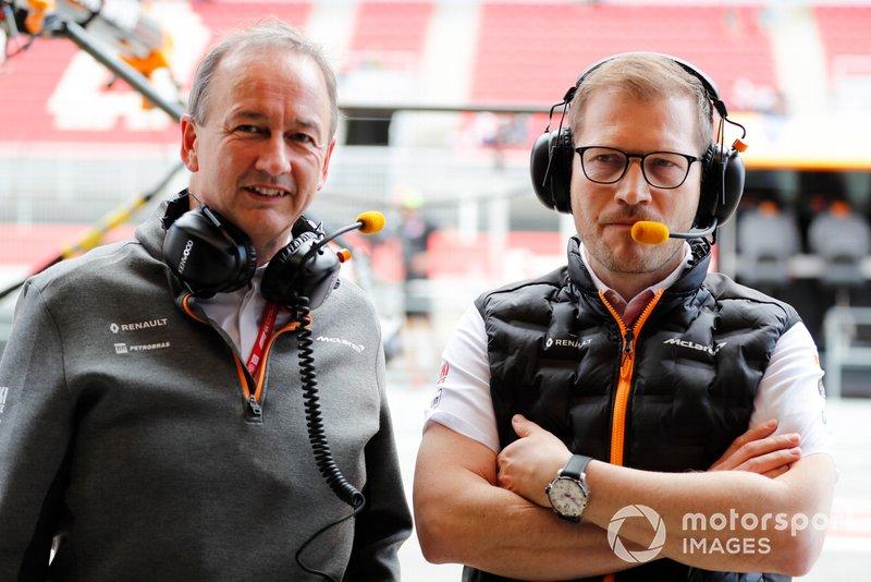 Jonathan Neale, Managing Director, McLaren, and Andreas Seidl, Team Principal, McLaren