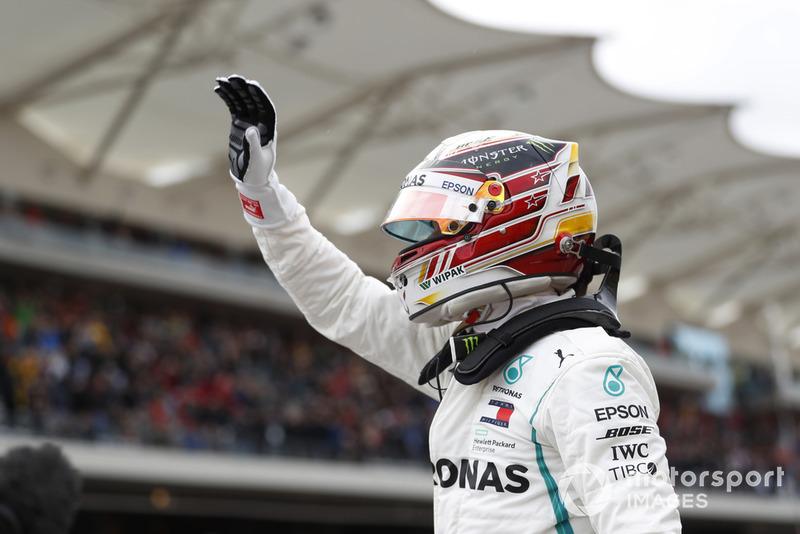 Le poleman Lewis Hamilton, Mercedes AMG F1