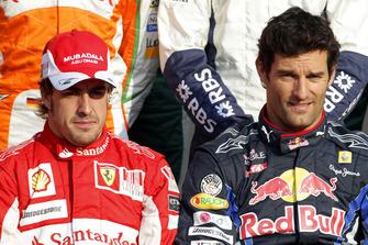 Fernando Alonso, Ferrari F10, Mark Webber, Red Bull Racing RB6