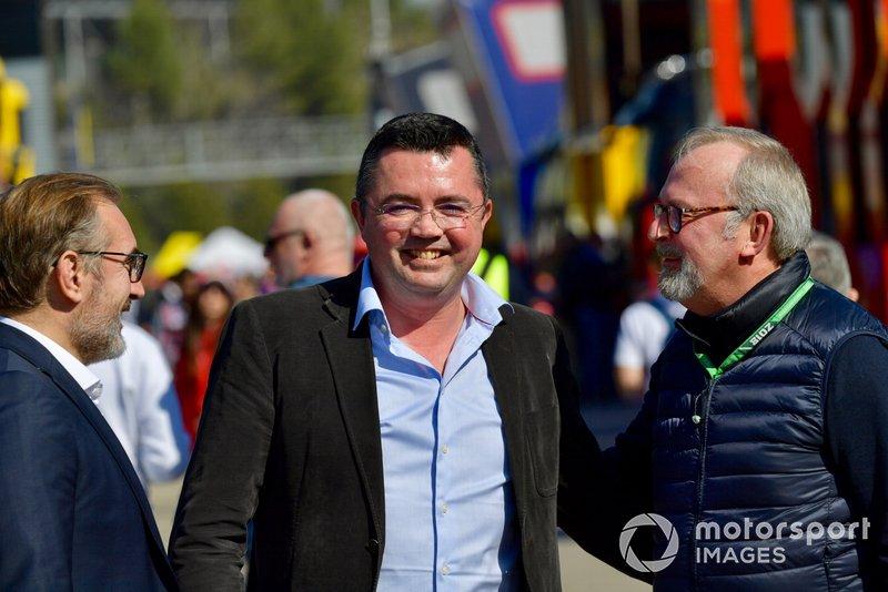 Eric Boullier et Didier Coton, manager de pilotes