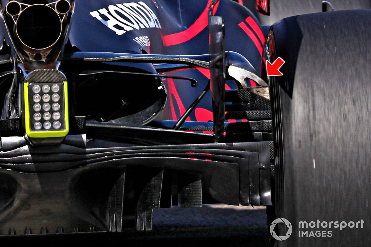 Red Bull Racing RB16 rear detail
