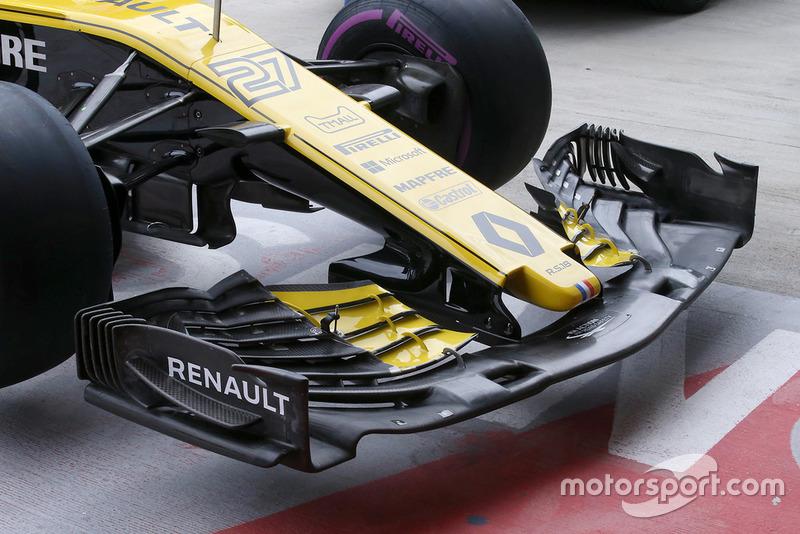 Alerón delantero del Renault Sport F1 Team R.S. 18