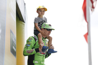 Kyle Busch, Joe Gibbs Racing, Toyota Camry Interstate Batteries with son Brexton