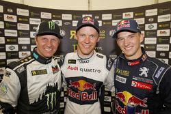 Pemenang Mattias Ekstrテカm, EKS RX Audi S1, peringkat kedua Petter Solberg, PSRX Citroテォn DS3 RX, per