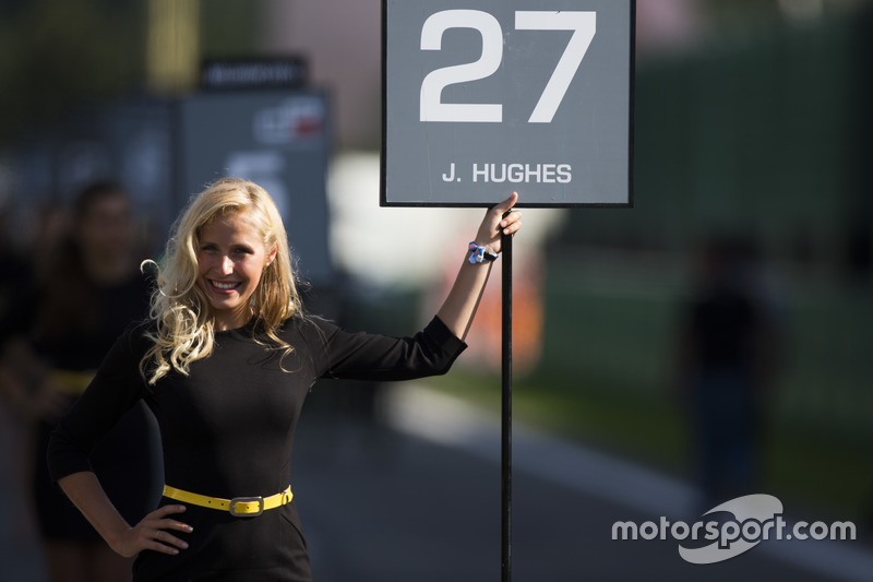 Grid girl for Jake Hughes, DAMS