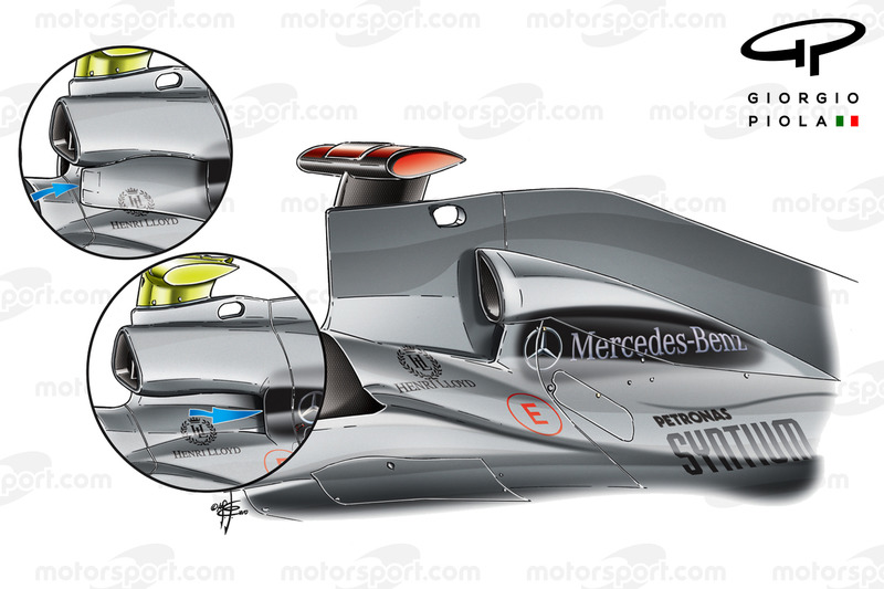 Airbox Lufeinlass Evolutions, Mercedes W01
