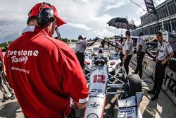 Firestone technician on Will Power, Team Penske Chevrolet car