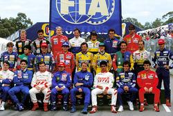 Johnny Herbert, Lotus, Pedro Lamy, Lotus, Mika Hakkinen, McLaren, Martin Brundle, Ligier, Pierluigi Martini, Minardi, Andrea de Cesaris, Tyrrell, Gerhard Berger, Ferrari, Eddie Irvine, Jordan, Toshio Suzuki, Larrousse, Rubens Barrichello, Jordan, Ayrton Se