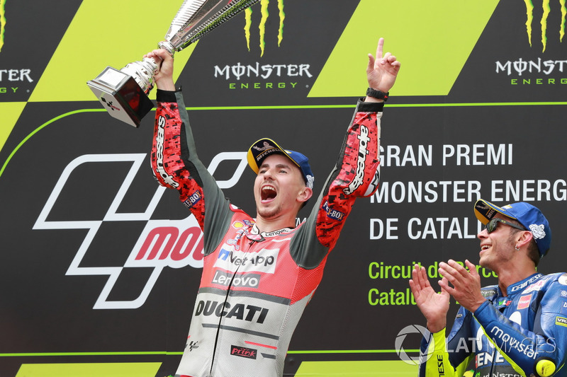 Podio: El ganador del GP de Catalunya 2018 Jorge Lorenzo, Ducati Team