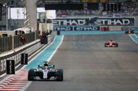 Lewis Hamilton, Mercedes F1 W08, leads Sebastian Vettel, Ferrari SF70H
