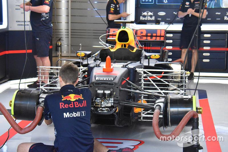 La monoposto di Daniel Ricciardo, Red Bull Racing RB13