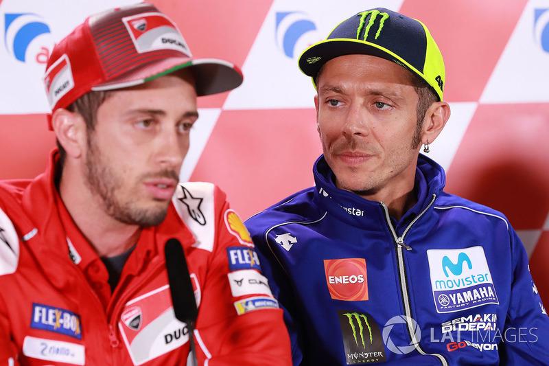 Валентино Россі, Yamaha Factory Racing, Андреа Довіціозо, Ducati Team