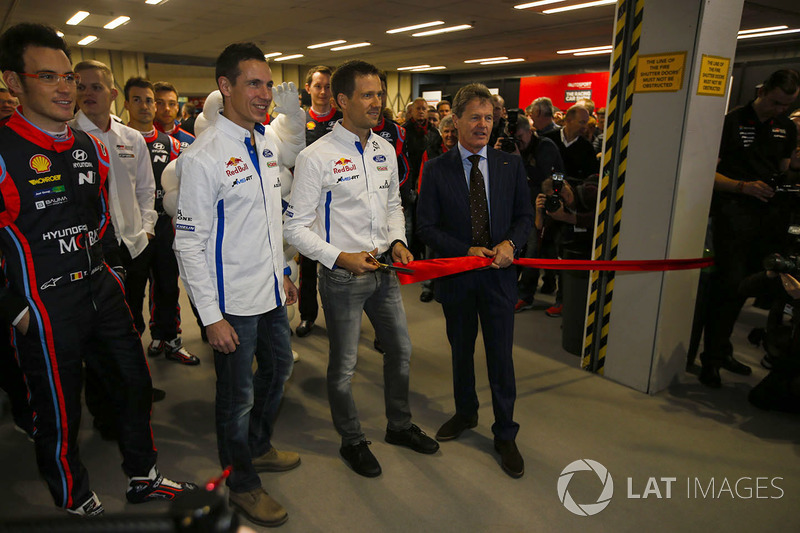 WRC drivers, including Thierry Neuville, Julien Ingrassia and Sébastien Ogier, as well as Malcolm Wi
