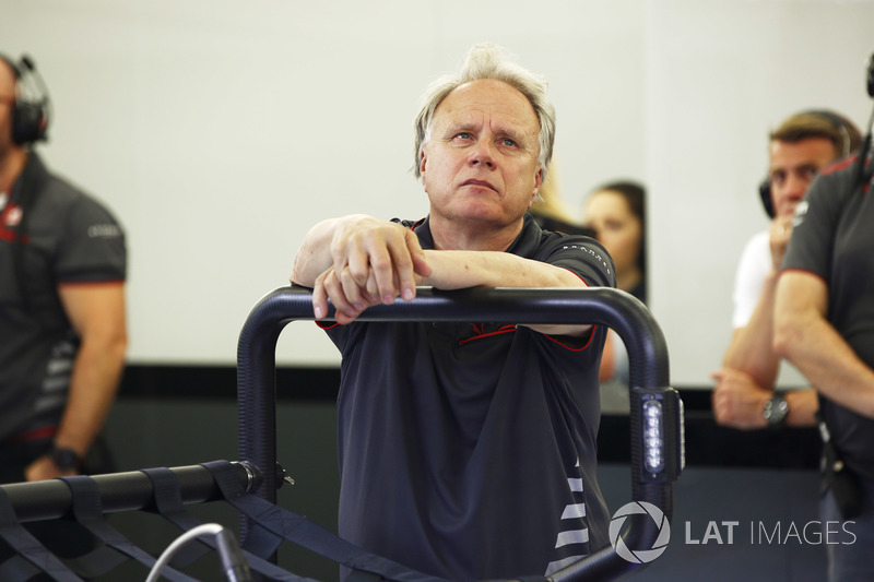 Gene Haas, Team Owner, Haas F1, in the garage