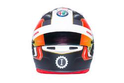 El casco de Charles Leclerc, Sauber