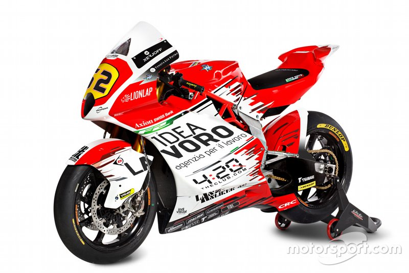#62 Stefano Manzi, MV Agusta F2 bike detail