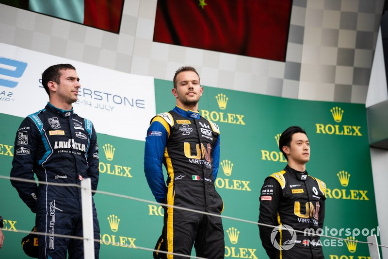 Luca Ghiotto, UNI Virtuosi Racing Nicholas Latifi, Dams and Guanyu Zhou, UNI Virtuosi Racing