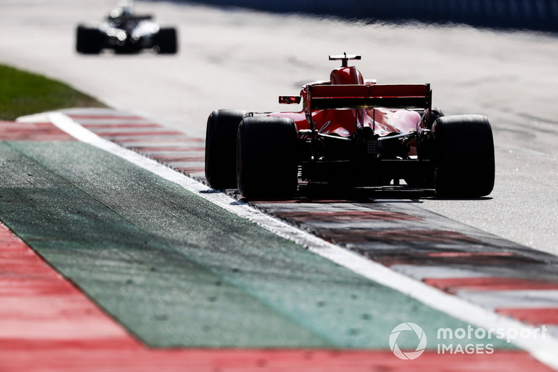 Vettel wasn't too pleased to lose time behind a lapped Magnussen