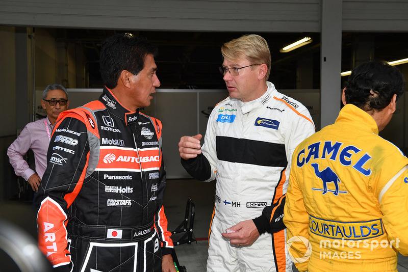 Satoru Nakajima, Aguri Suzuki ás Mika Hakkinen
