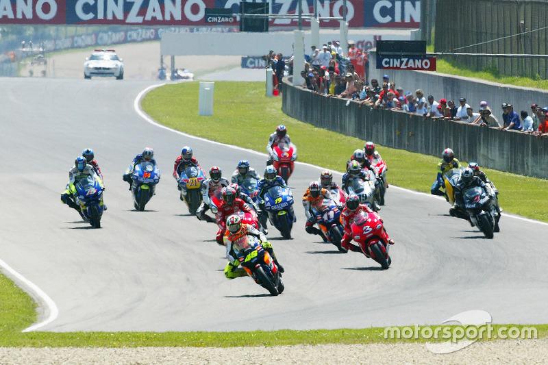Start: Valentino Rossi in Führung
