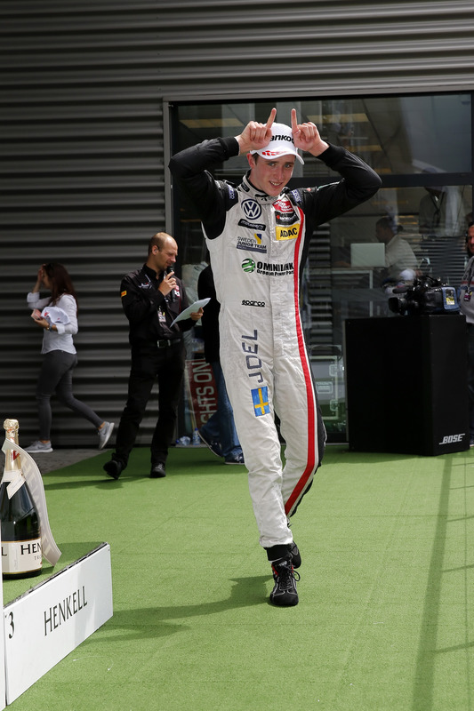 Rookie podium, Joel Eriksson, Motopark, Dallara F312 - Volkswagen,