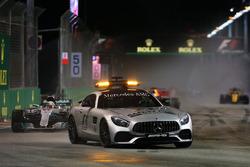 Lewis Hamilton, Mercedes AMG F1 W08  leads under the Safety Car
