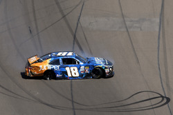 Daniel Suarez, Joe Gibbs Racing spins and wrecks