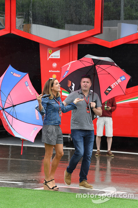 David Croft, Sky TV Commentator and Natalie Pinkham, Sky TV