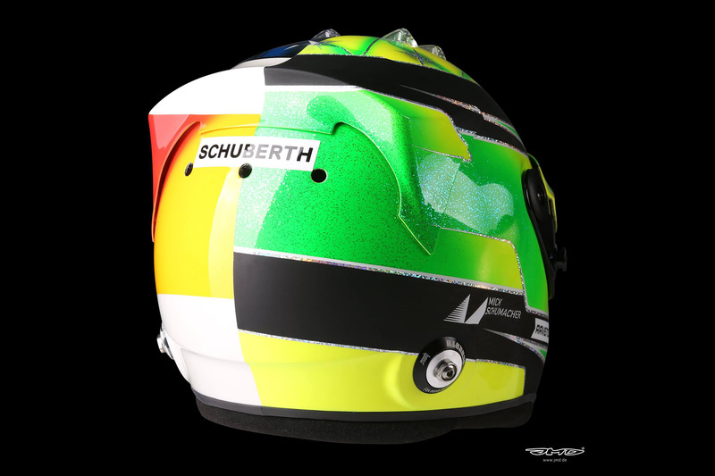 Helmet of Mick Schumacher