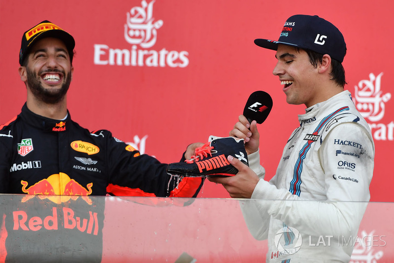 Daniel Ricciardo, Red Bull Racing y Lance Stroll, Williams