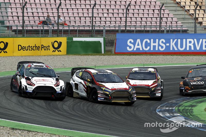 Niclas Grönholm, Olsbergs MSE, Ford Fiesta, Kevin Eriksson, MJP Racing Team Austria, Ford Fiesta ST, Timo Scheider, MJP Racing Team Austria, Ford Fiesta ST