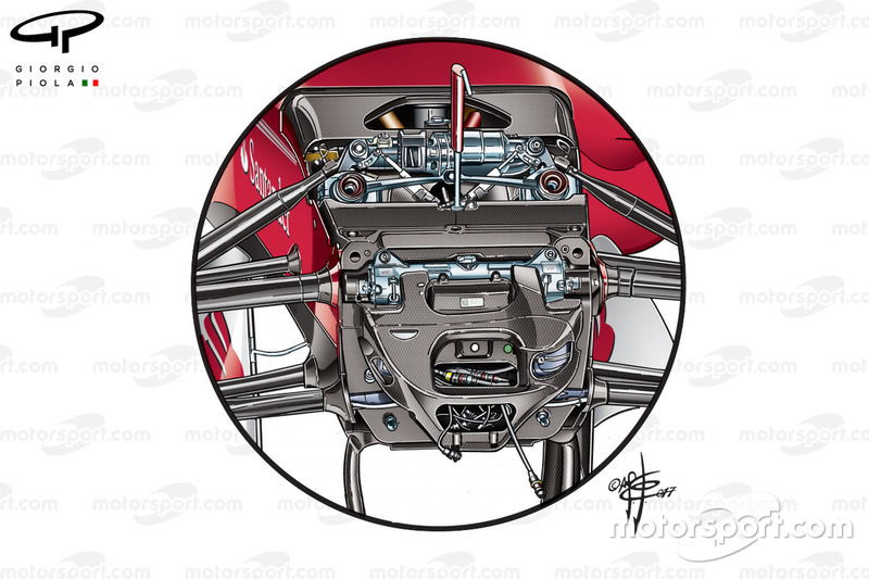 Ferrari SF70H front suspension