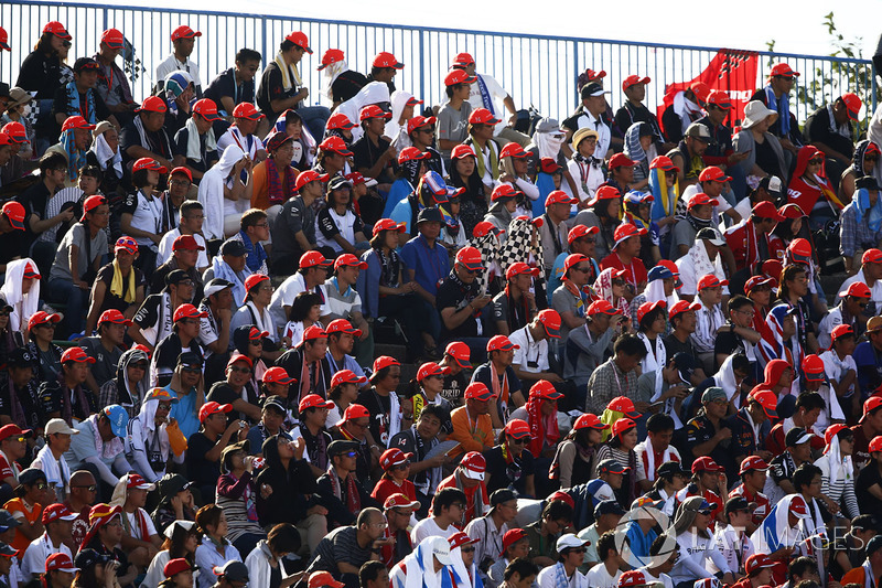 Honda fans in the grandstand