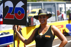 Grid Girl for Daniil Kvyat, Scuderia Toro Rosso