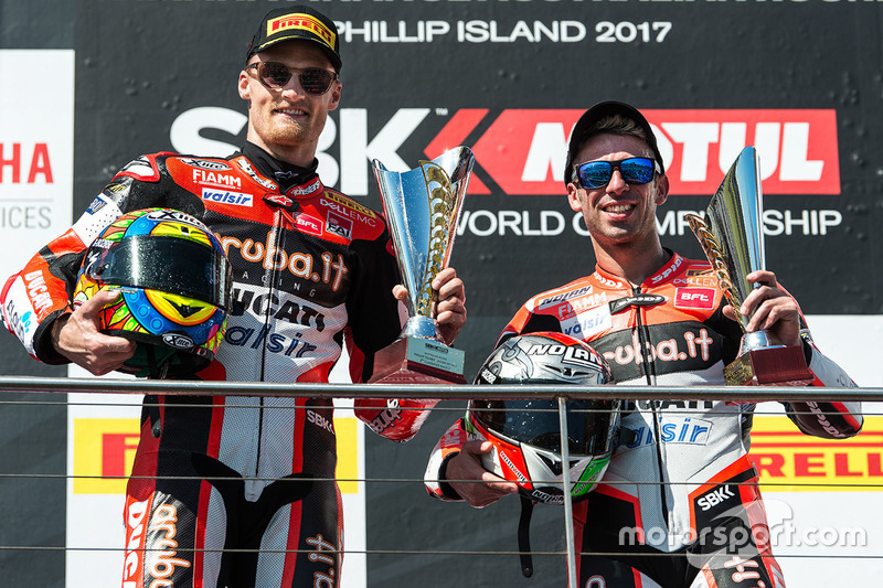 Podium: 2. Chaz Davies, Ducati Team; 3. Marco Melandri, Ducati Team