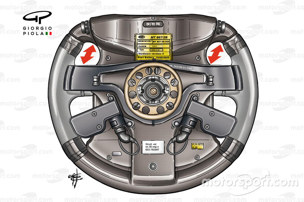 Ferrari F2005 steering wheel