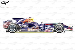 Red Bull RB4 2008 side view