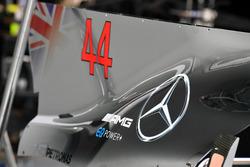 Aileron de requin sur le capot moteur de la Mercedes-Benz F1 W08