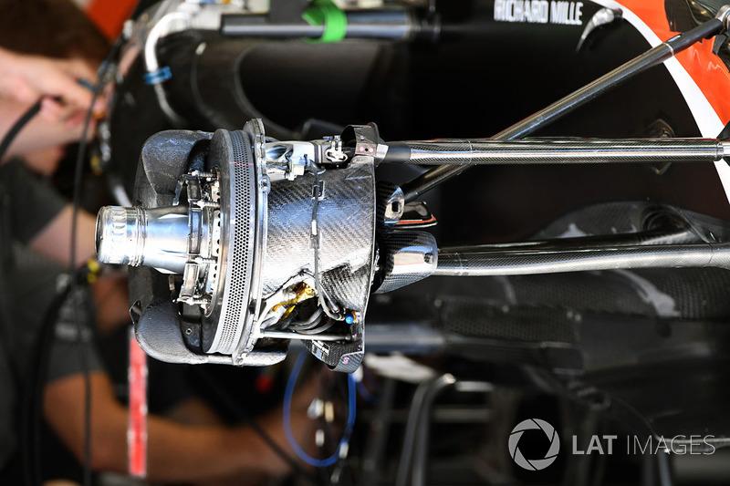 Moyeu avant de la McLaren