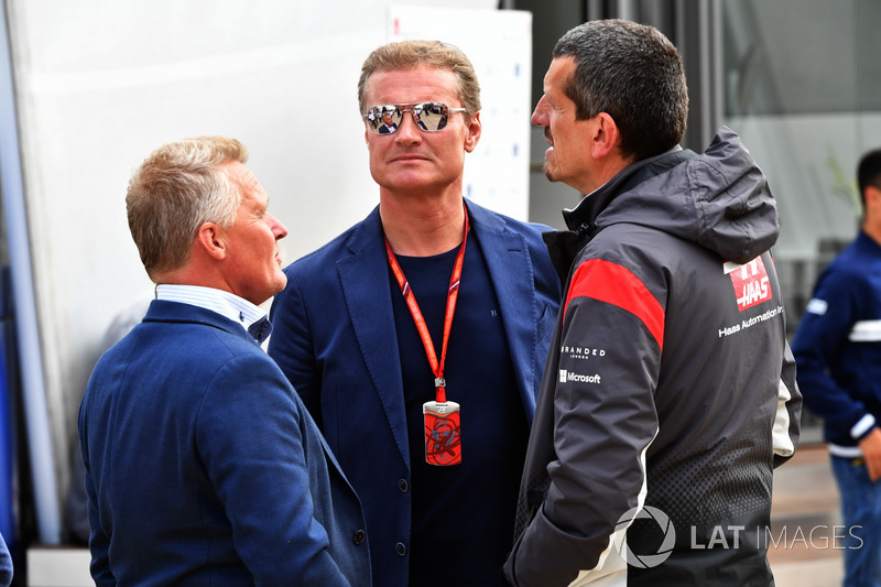 Johnny Herbert, Sky TV, David Coulthard, Channel Four TV Commentator and Guenther Steiner, Haas F1 T