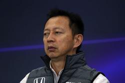 Yusuke Hasegawa, Honda Motorsport Başkanı, basın toplantısında