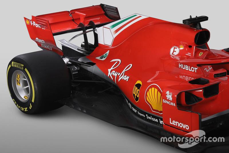 Задняя часть Ferrari SF71H