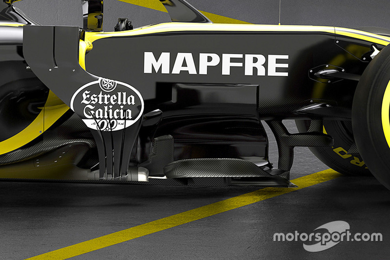Renault F1 Team RS18 bargeboard detail
