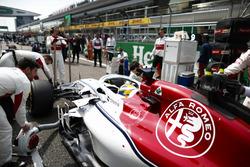 Marcus Ericsson, Sauber C37 Ferrari, sur la grille