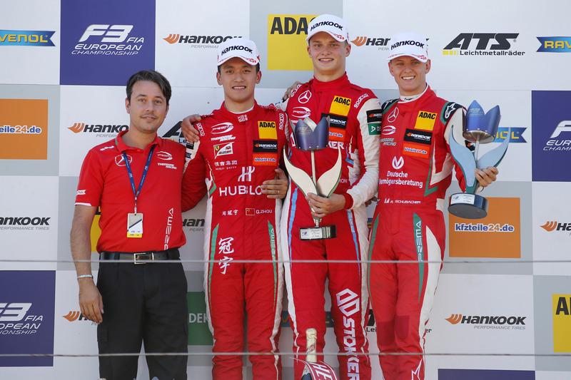 Prema sapu bersih podium Race 1, F3 Eropa Zandvoort