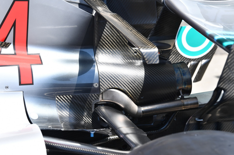 Mercedes-AMG F1 W09 rear and exhuast detail