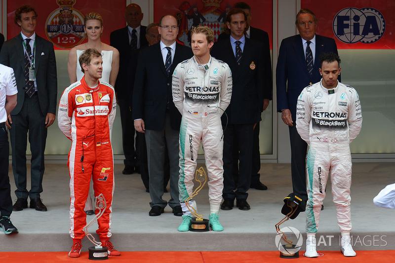 2015: 1. Nico Rosberg, 2. Sebastian Vettel 3. Lewis Hamilton