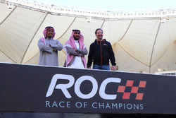 Prince Khaled Al Faisal, President of the Motor Federation Of Saudi Arabia, Prince Abdulaziz Al Faisal, Vice Chairman of the General Sports Authority of Saudi Arabia, and ROC President Fredrik Johnsson